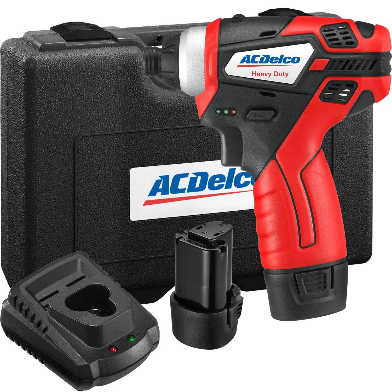 ACDelco ARI12105 Tools Power 1//4 Li-Ion 12V Impact Driver AC Delco
