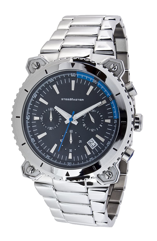 Steel Master Herren-Armbanduhr Chronograph Quarz Analog Edelstahl - CAP11032026.A
