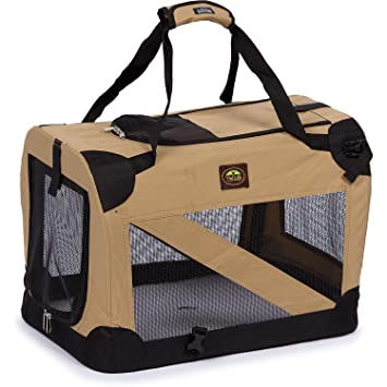 PetLife Mascota Vida 360 Vista Vista Suave Plegable Metal Mascota Crate: Amazon.es: Productos para mascotas
