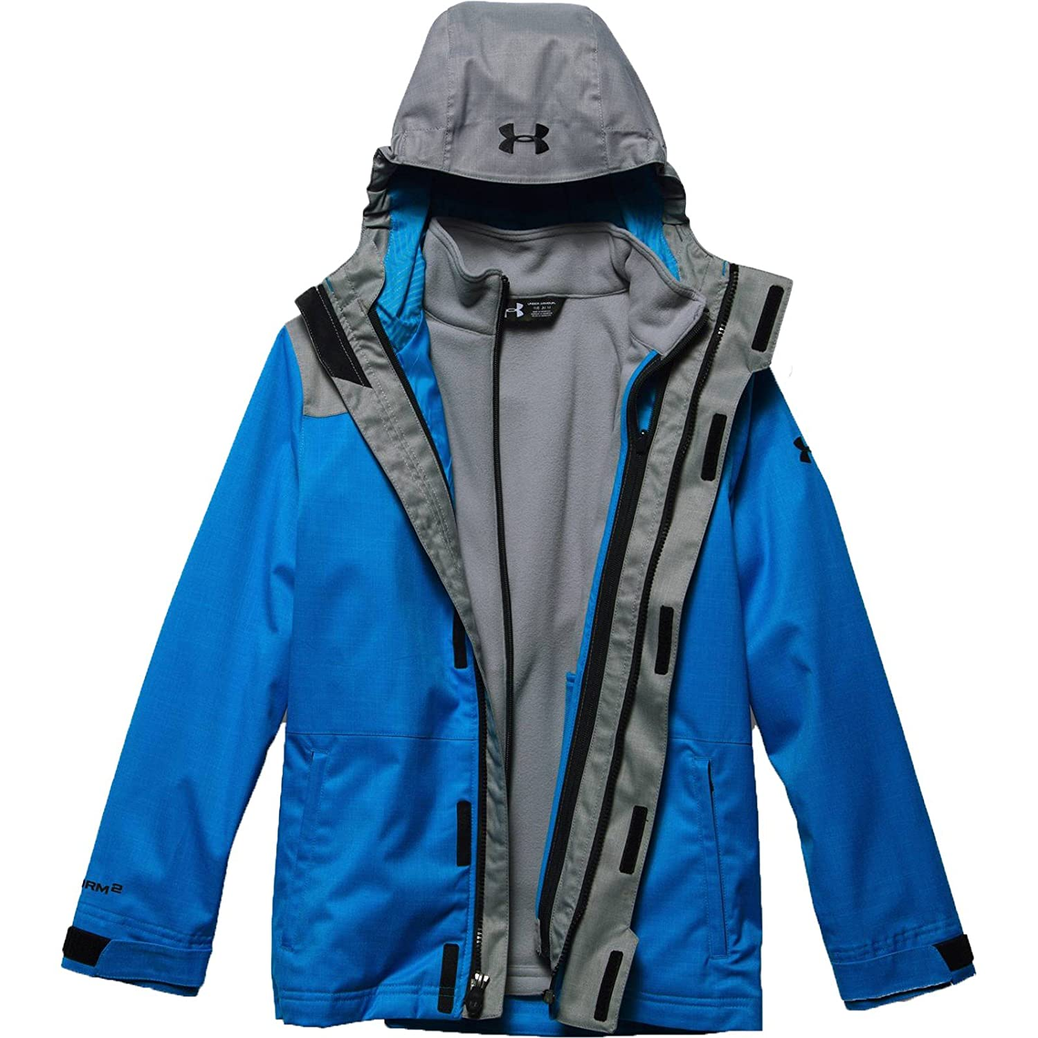 5d0e6993 Under Armour UA ColdGear Infrared Wildwood 3-in-1 Hooded Jacket - Boy's