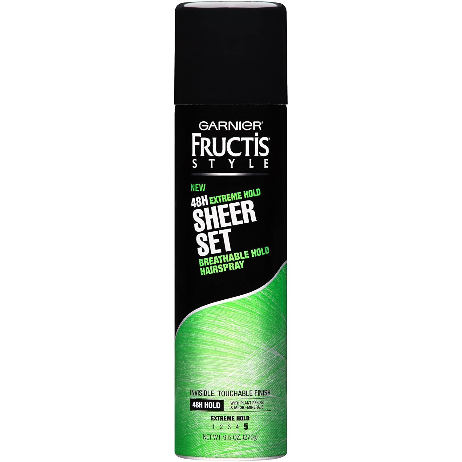 Garnier Fructis Style Sheer Set Extreme Hold Breathable Hairspray, All Hair Types, 9.5 oz.(Packaging May Vary)
