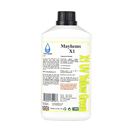 7 opinioni per Mayhems X1, UV Yellow Green- 1000ml