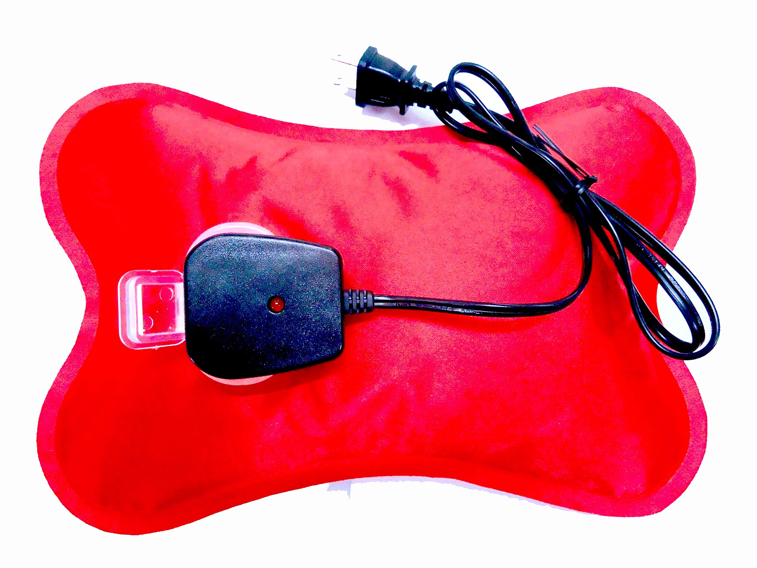 Happy Heat Hot Water Bottle Electric Rechargeable Heating Pads, Zippered Bag, Red by Happy Heat