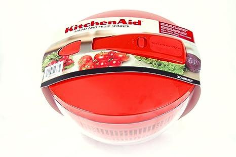 Amazon.com: KitchenAid Salad and Fruit Spinner (Pumpkin ...
