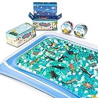 MONILON Water Beads, 24 Pcs Ocean Sea Animals Tactile Sensory Play Kids Toys for...