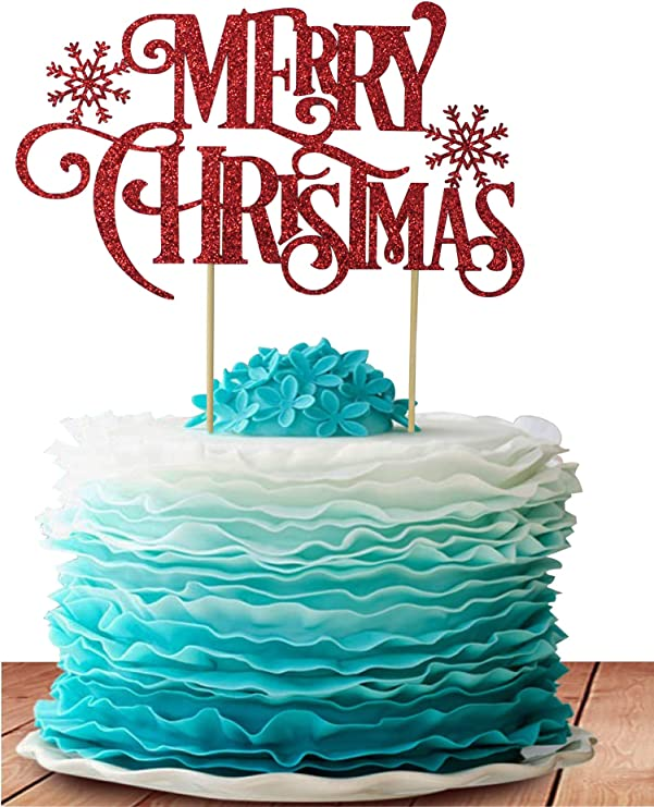 Grantparty Merry Christmas Cake Topper Holiday Santa And Reindeer Cake Decorations Happy New Year 2020 Hello 2020 Sign Green Christmas Amazon Ca Home Kitchen