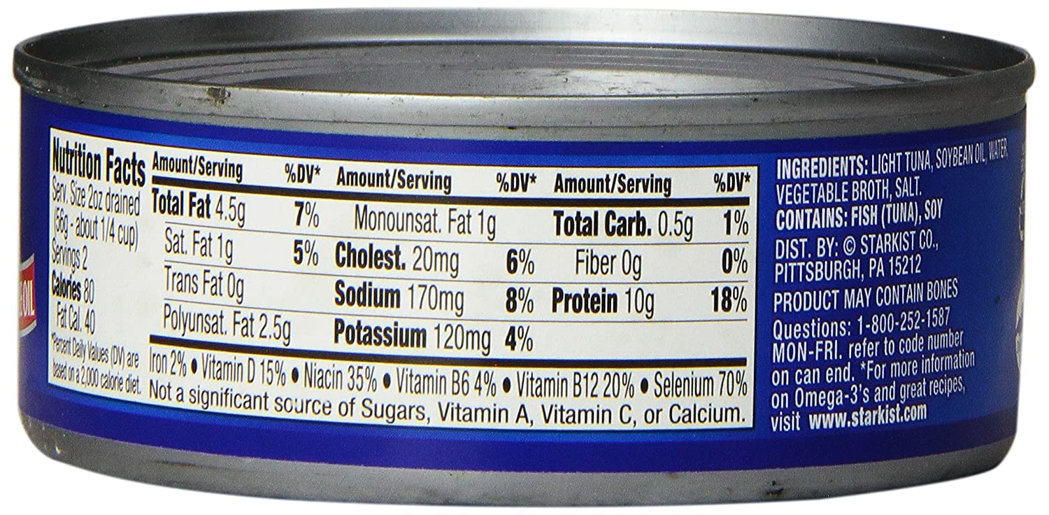 Starkist albacore tuna nutrition facts besto blog for Calories in tuna fish
