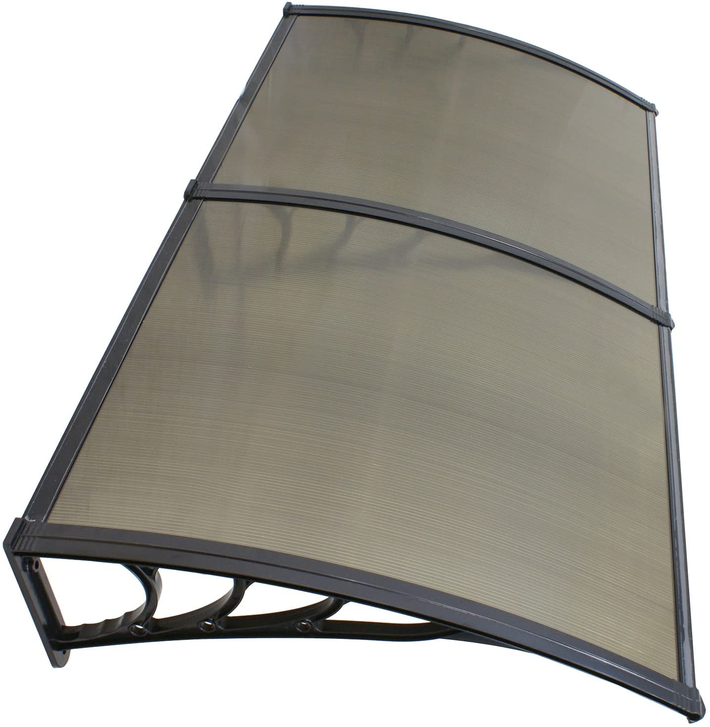 40'' x 80'' Window Awning Door Canopy Polycarbonate Cover Outdoor Front Door Patio Sun Shetter (Brown 1pcs)