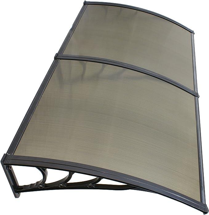2 ZENY 40x 80 Window Door Awning DIY Overhead Polycarbonate Door Canopy Decorator Patio Cover with Black Bracket