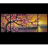 Abstract Painting Canvas Prints Modern Wall Art Décor Japanese Cherry Blossom Art