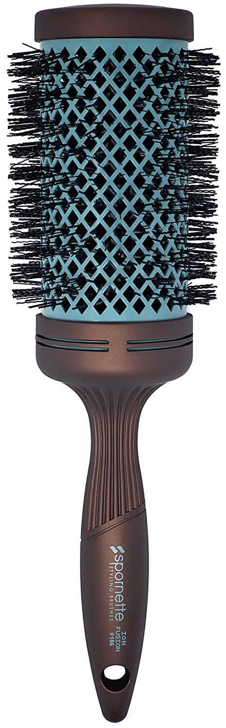 Spornette Ion Fusion Aerated Hair Brush, Round, 3-Inch 186