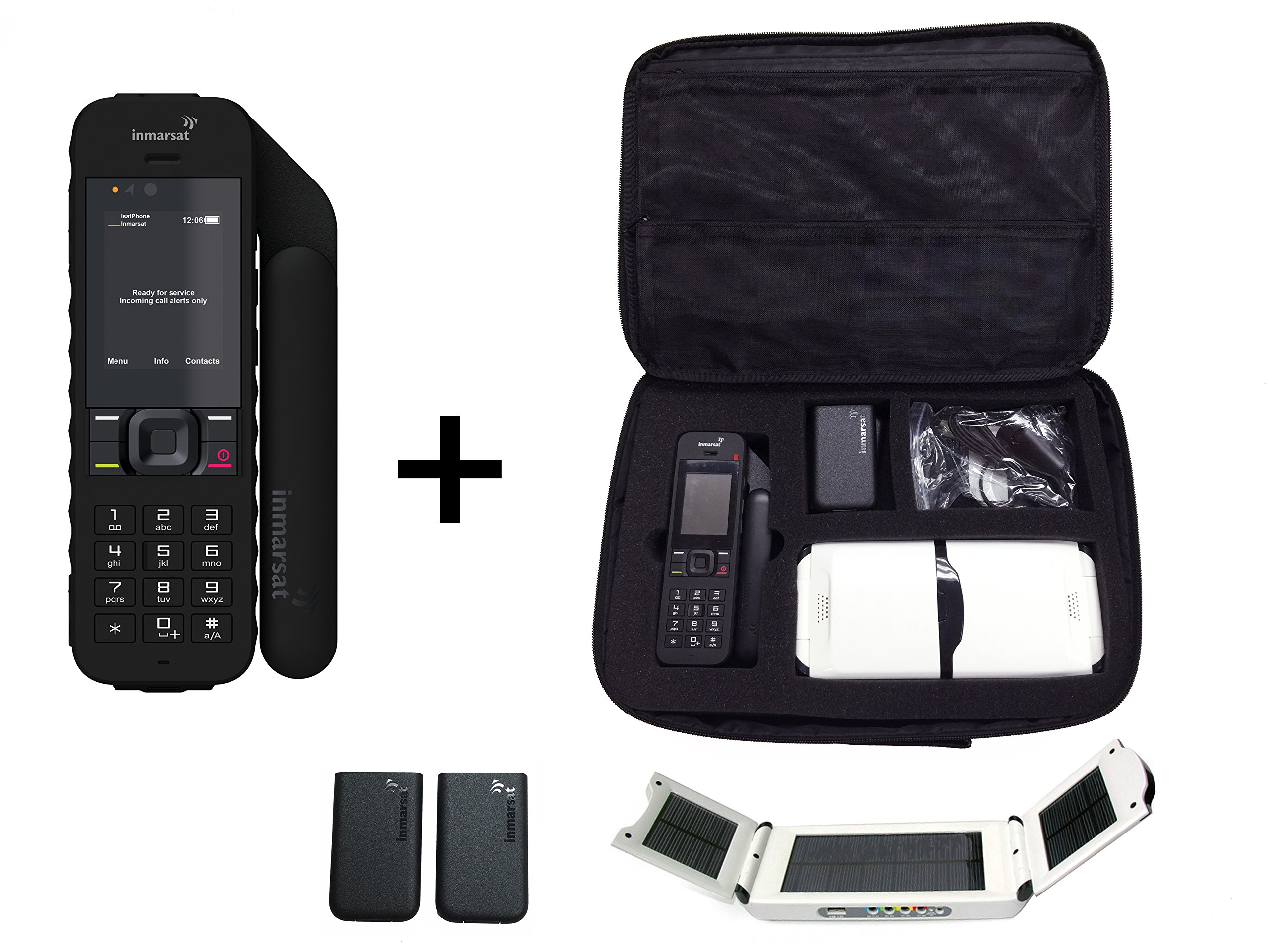 Inmarsat IsatPhone 2 Satellite Phone - Traveler Package w/ Solar Panel & Travel Bag by Inmarsat