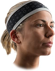 McDavid 6582 Ucool Headband Cooling Head Sweatband with 50+ UV Sun Protection, Black, One Size