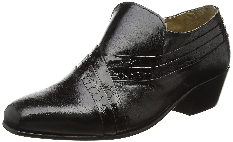 Montecatini - Zapatos de piel con tacón cubano para hombre, color negro: Amazon.es: Zapatos y complementos