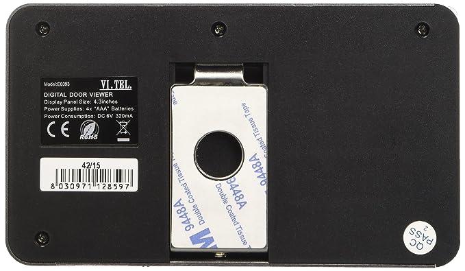E0393 12 Mirilla Digital con Sensor de Movimiento, Color Plata: Amazon.es: Bricolaje y herramientas