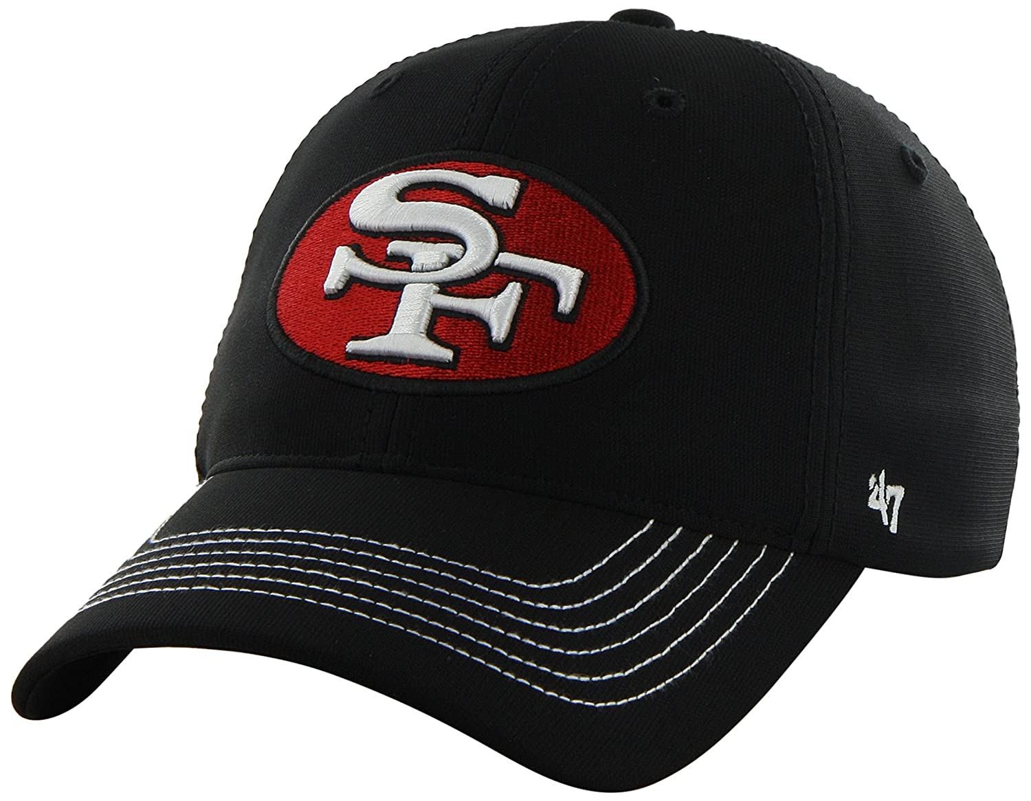 cba4b1e4 NFL San Francisco 49ers '47 Brand Game Time Closer Stretch Fit Hat ...