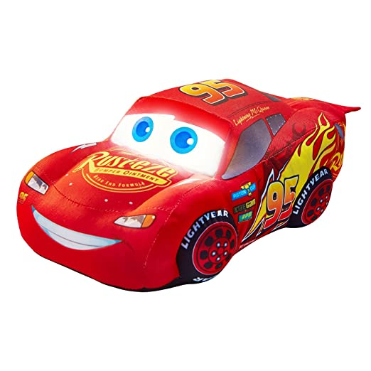 Amazon.com: Disney Cars Lightning McQueen Go Glow Soft Pal Night Light: Toys & Games