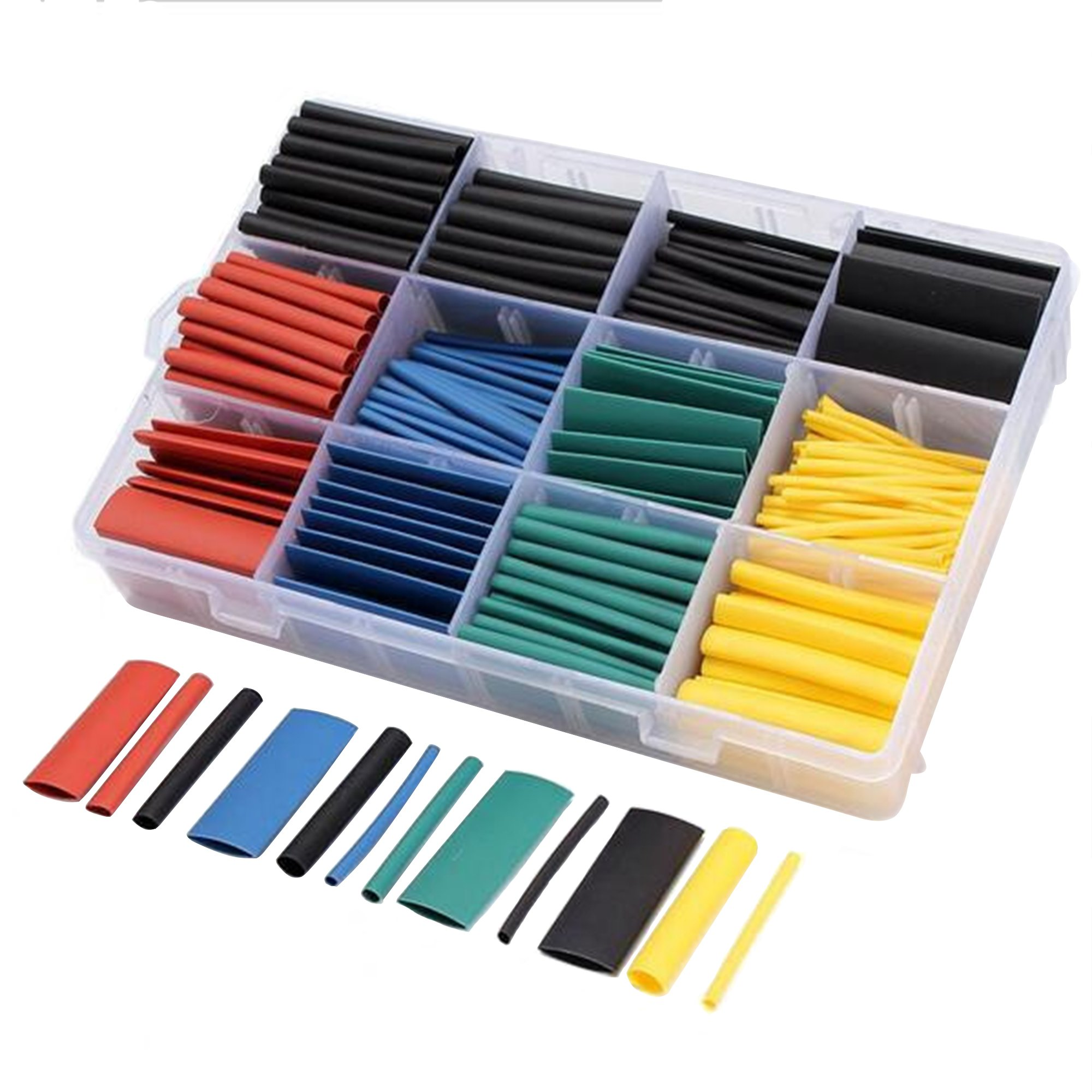 O'woda 530pcs Heat Shrink Tubing 2:1 Insulation Shrinkable Tube Assortment Electric Polyolefin Wire Wrap Cable Sleeve (530pcs Heat Shrink Tubing) by O'woda