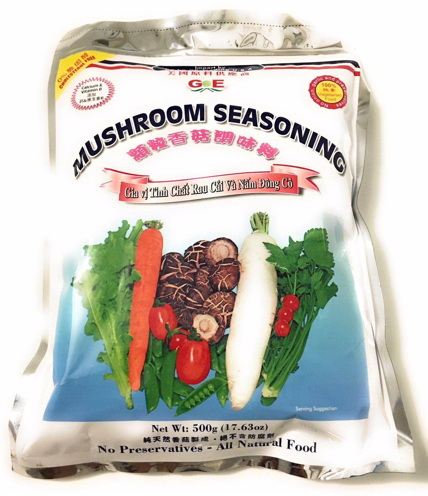 MUSHROOM SEASONING NATURAL GRANULE 17.63OZ (500g) by Po Lo Ku Trading USA