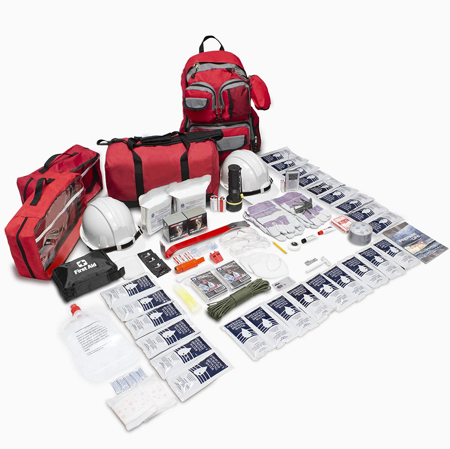 Emergency Zone Earthquake 72 Hour Survival Kit Go Bag, 2 Person Emergency Disaster Kit, Be Prepared for The Big ONE. 2 Person Basic, 2 Person Deluxe, Personal Evacuation Safety Kit Available 2 Person Basic Emergency Disaster Kit