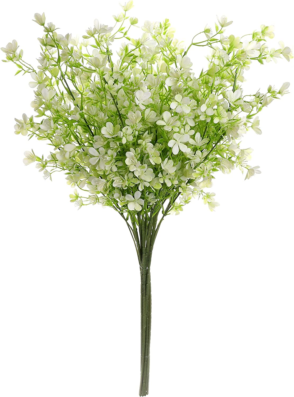 Grand Verde Myosotis 3 Long Branches Forget Me Not Scorpion Grasses Artificial Flowers Set of 5, Real Touch Bouquets for Gift, DIY, Garden, Patio, Balcony, Wedding, Party, Home Decor (White)