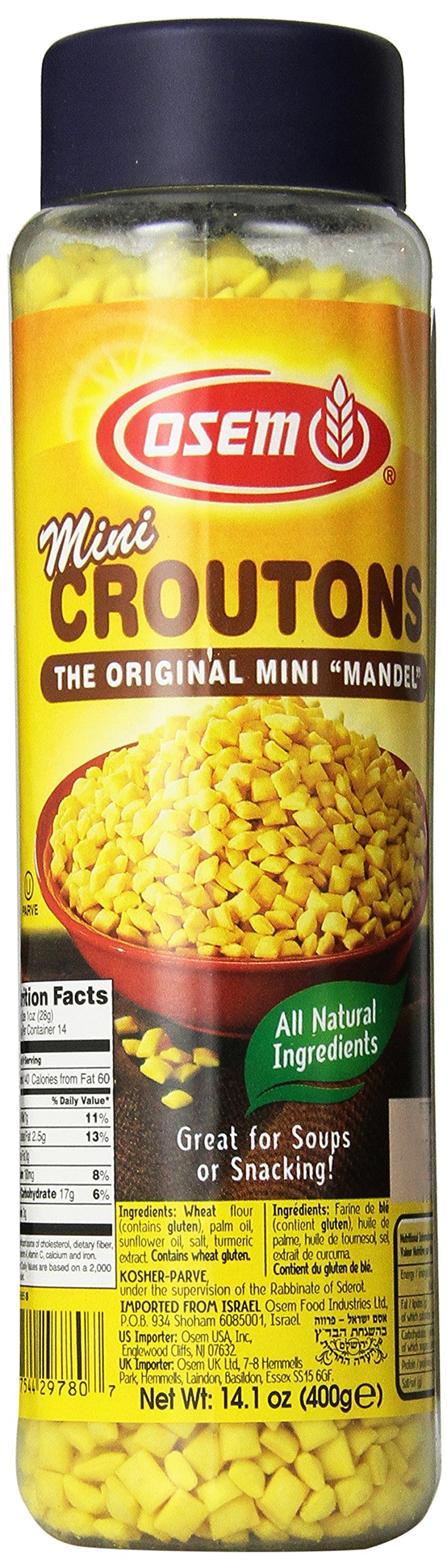 The Original Soup Croutons By Osem Mini Mandel Soup Almonds (Pack of 12)
