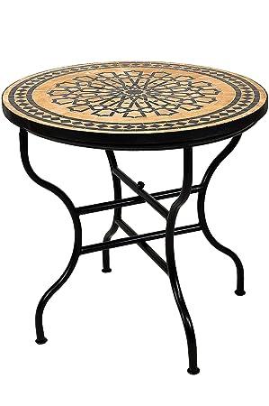 Amazon De Original Marokkanischer Mosaiktisch Gartentisch O 80cm