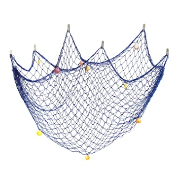rongyo decorative fishing net modern style door wall decoration natural seaside beach shell decoration net