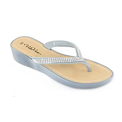 f4e9ecf21b76b3 Vee Vee Women s Charm Wedge Sandal (5 6