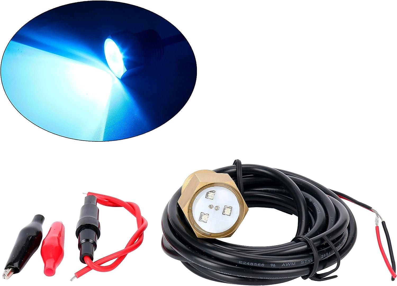 Amarine Blue Cree LED Boat Drain Plug Underwater Light