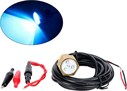 BLUE UNDERWATER GARBOARD DRAIN PLUG LIGHT,GREAT FOR FISHING,SWIMMING /& DIVING