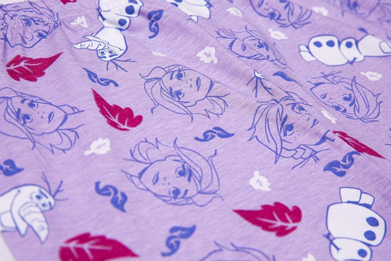 motivo Anna a maniche lunghe Disney Pigiama Frozen Elsa e Olaf di Frozen II et/à dai 3 ai 12 anni per bambine
