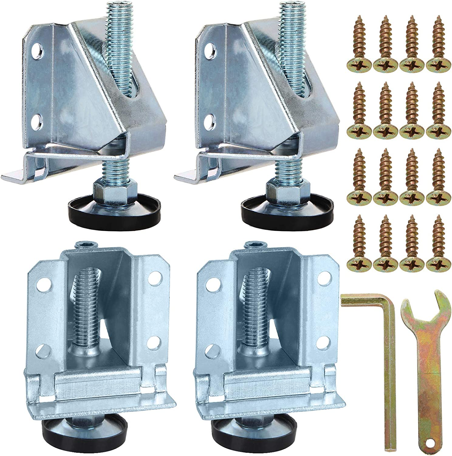 4Pack Leveling Feet Heavy Duty Furniture Levelers Height Adjustable Table Legs Leveler with Hexagon Nuts Lock for Furniture,Table, Cabinets, Workbench,Shelving Units