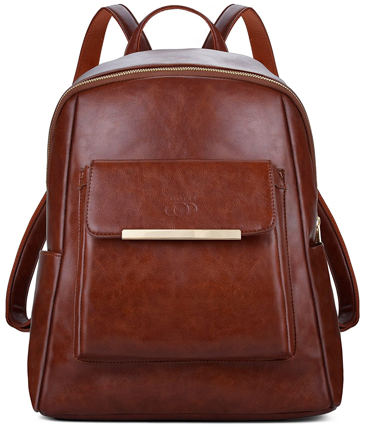 Brown Leather Backpack, COOFIT Backpack Purse Womens Backpack Fashion Backpack for Women