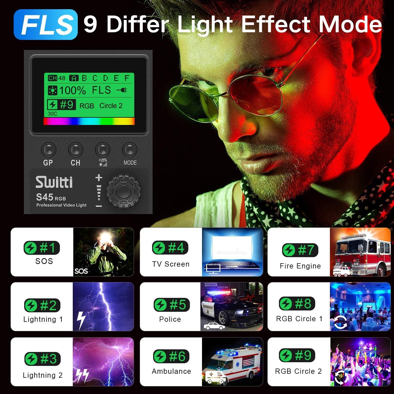 Upgrade RGB Led Video Light 2 Packs Bi-color Photography Lighting with Softbox and Light Stand for Studio Photography Video Shooting CRI 97+ Dimmable 2600-10000K Panel Lighting Kit