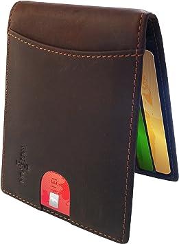Kreditkartenetui Vebon® Geldbörse aus Echtleder für HerrenRFID-Schutz