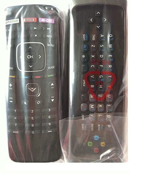 VIZIO Xrt302 QWERTY Keyboard Remote for M650vse M550vse M470vse M-go Tv Internet Tv-30 Days Warranty!