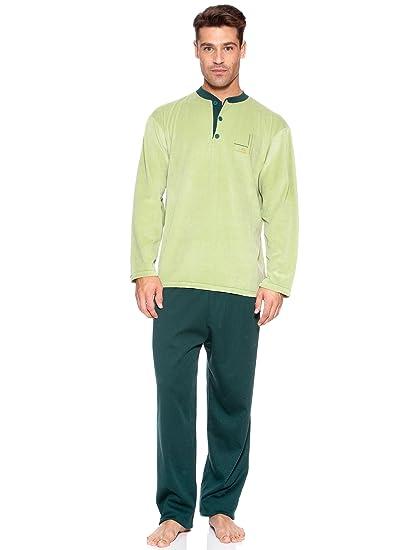 Basket Pijama Camiseta Velour Pantalón Punto Verde L/44: Amazon.es: Ropa y accesorios