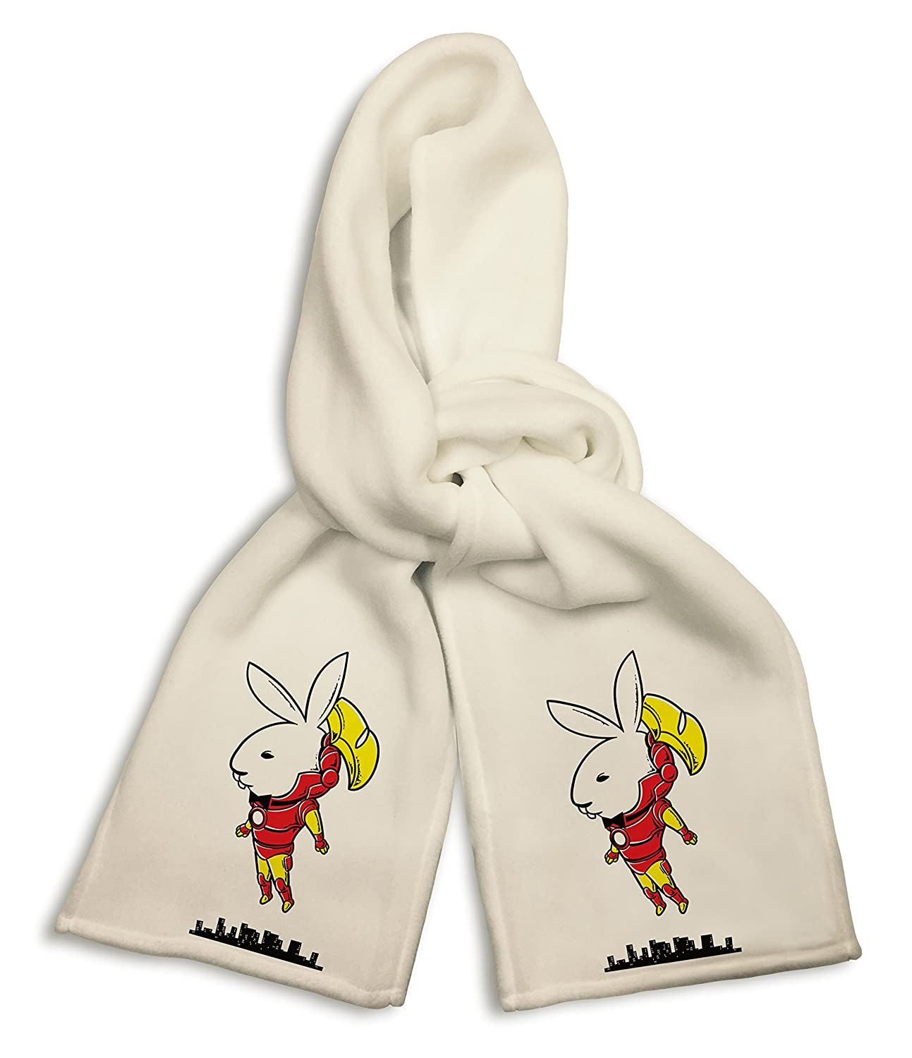 Bunny Inside Super Hero Comic /& Magazine Parody White Winter Scarf