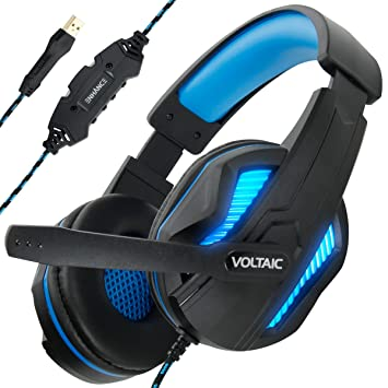 Cascos Gaming para PC ENHANCE - Voltaic PRO Cascos USB con sonido Surround 7.1, Microfono