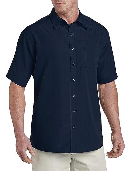 e54c8fc76bf Harbor Bay by DXL Big and Tall Short-Sleeve Microfiber Sport Shirt (2XL