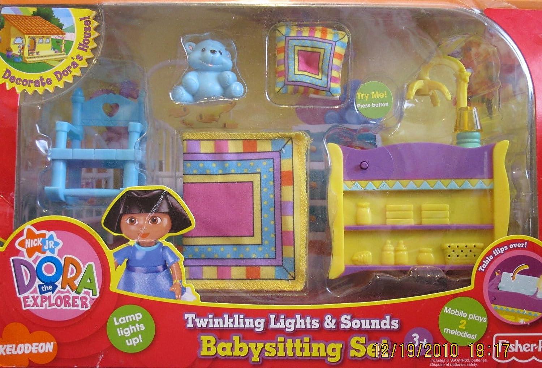 Dora Explorer Twinkling Lights & Sounds Babysitting Set w Lights & Sounds! (2007)