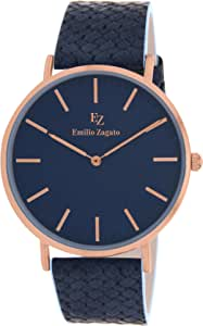 Emilio Zagato Leather Casual Watch For Women Bez40052 808, Analog