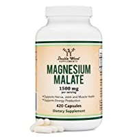 Magnesium Malate Capsules (420 Count) - 1,500mg Per Serving (Magnesium bonded to...