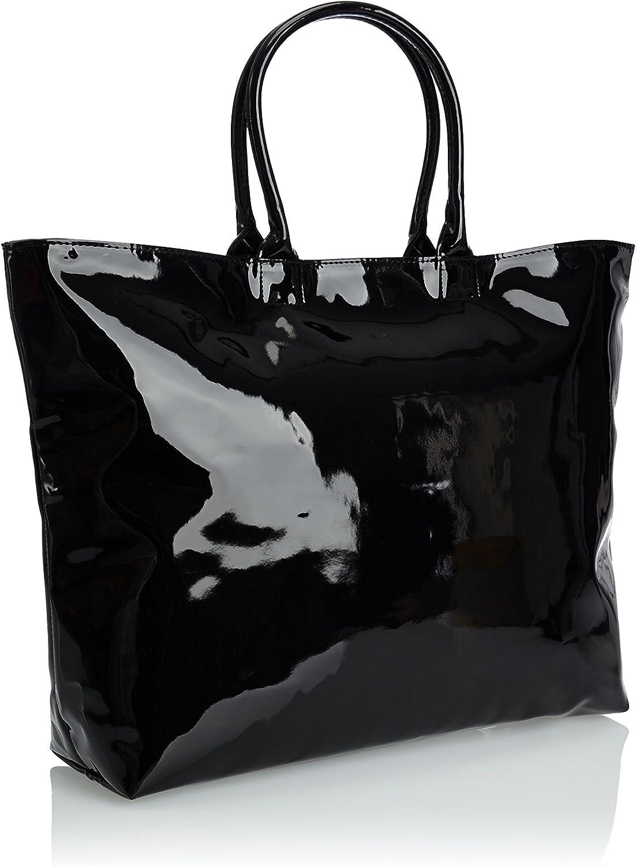 adidas, Borsa Donna con fantasia zebrata, Nero (Black), 43 x