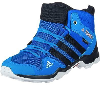 new product d39e9 81cd9 adidas Terrex Ax2r Mid CP K, Chaussures de Randonnée Hautes Mixte Enfant,  Bleu (