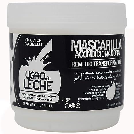 Ligao leche pelo máscara, - con aminoácidos, Vitaminas, polisacáridos, Biotina, Calcio