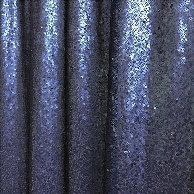 Trlyc Paillettenvorhänge Kulisse Mit Glitzer Marineblau 2 Paneele 60 X 20 Cm