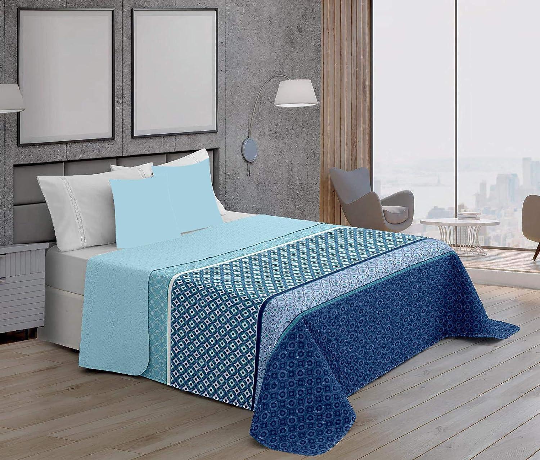 WOLTU 2 X Couvres-lit 150x200cm 100/% Coton,Couverture de canap/é Plaid r/étro Couverture Double-Lit,Bleu BWP5016bl-2