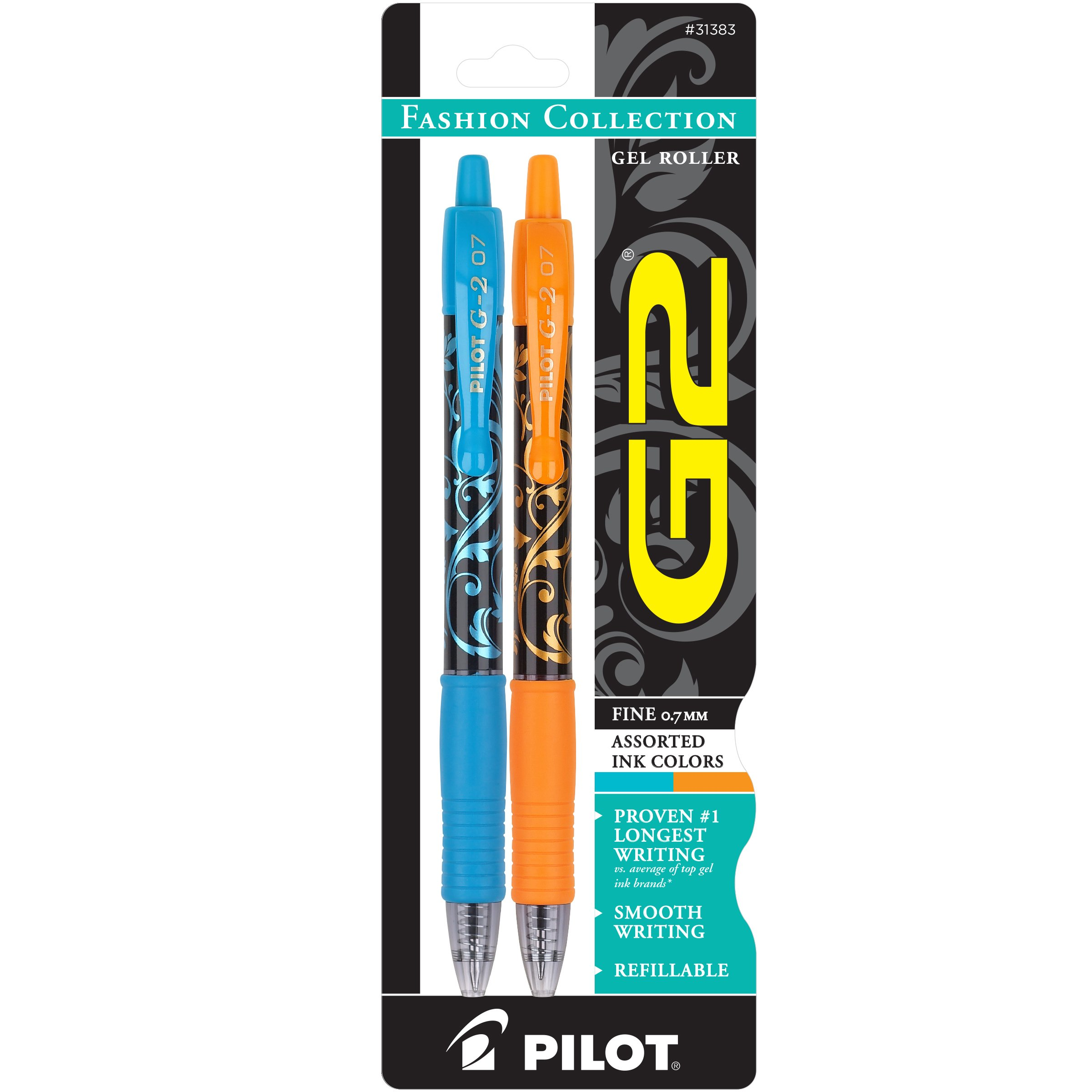 Pilot G2 Fashion Collection Colors Gel Roller Pens Fine...